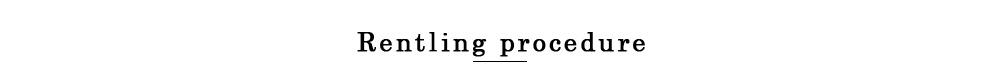 Renting procedure